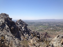 Jutting schist of Squaw Peak